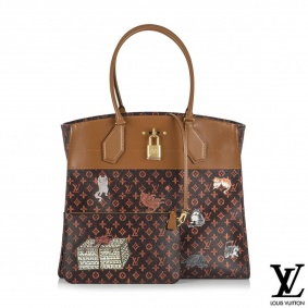 Louis Vuitton x Grace Coddington Catogram City Steamer Cabas XXL